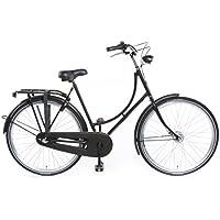 """TULIPBIKES, le vélo Hollandais original et unique """"Tulip 2"""", noir mat, 3 vitesses Shimano, hauteur de cadre 50cm"""