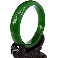 yigedan Natural Handmade Green Chinese Hetian Nephrite Jade Bangle Bracelet