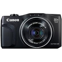 "Canon PowerShot SX700 HS - Cámara compacta de 16.1 Mp (pantalla de 3"", zoom óptico 30x, estabilizador digital, vídeo Full HD, WiFi, GPS), negro"