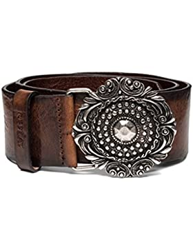 Replay Women's Women's Leather Brown Belt With Vintage Buckle 100% Leather