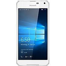 """Microsoft Lumia 650 - Smartphone libre Windows 10 (5"""", 16 GB, 1 GB RAM, 4G), color blanco"""