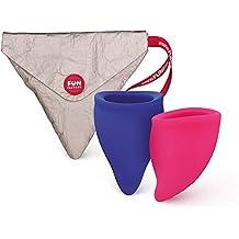 FUN FACTORY FUN CUP EXPLORE KIT - Zwei Menstruationstassen für starke und schwache Blutung inkl. Tasche