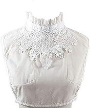 YAKEF Fake Collar Detachable Lace Collar Blouse Half Shirts False Collar for Women Girls