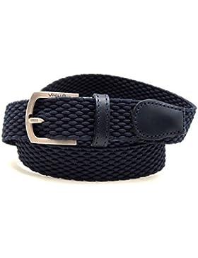 VAELLO - Cinturón niño trenzado elástico con puntera piel ancho 25mm, para niño