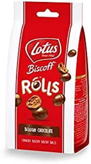 Lotus Crunchy Biscoff Biscuits Balls Coated With Belgian Chocolate, 150 g