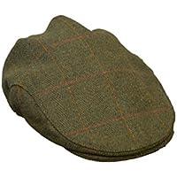 Walker & Hawkes - Casquette plate Derby - pour enfant - tweed - chasse/campagne - sauge foncé