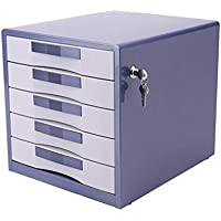 ChSe U Box Gabinetes para Archivos 5 Capas Concha de Metal Bloqueable Cajón de Escritorio Armario