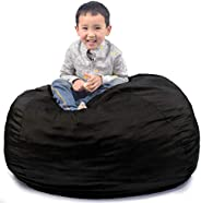Bean Bag Chair Cover (No Beans) Stuffed Animal Storage Bean Bag Cover for Kids and Adults, Washable Premium So
