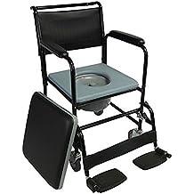 Silla WC con ruedas | Modelo Barco | Acero | Altura 91,5cm | Peso Máximo soportado 100 Kg