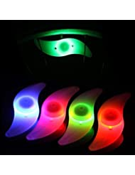 4x Fahrrad Rad LED Speichen Licht Lampe Blinker Spoke Beleuchtung Rot Gelb Grün Mehrfarbig