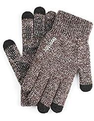 LX-Y Touch Screen Gloves Men's Female Autumn and Winter Snow Flower Warm Couple Models Wool Plus Velvet Slip