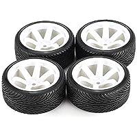 guoxuEE AUSTAR 4pcs Rueda de neumático de llanta de llanta de plástico Duro de 64 mm