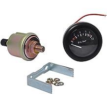 Shiwaki Medidor De Presión De Aceite Indicador LED De Retroiluminación con Sensor para Barco ...