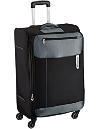 American Tourister Portugal Polyester 69.5 cms Black Soft Sided Suitcase (AMT PORTUGAL SP 69CM BLACK)