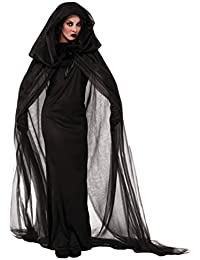 6c205598cfca5b Anguang Geisterbraut Böse Königin Lange Cosplay Kleid Lange Vampir Umhang  mit Kapuze Ausführen Kostüme Halloween und