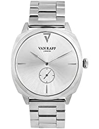 Van Raff Silver Stainless Steel Band With Silver Dial Analog Watch For Men VF1985