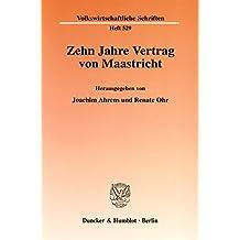 Suchergebnis Auf Amazonde Für Vertrag Von Maastricht Bücher