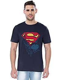The Souled Store Superman Son of Krypton Superhero Printed Premium NAVY BLUE Cotton T-shirt for Men Women and Girls