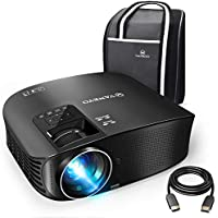 "VANKYO Leisure 510 Full HD Projector with 3600 Lux, Video Projector with 200"" Projection Size, Support 1080P HDMI VGA AV USB with Free HDMI Cable and Carrying Bag"