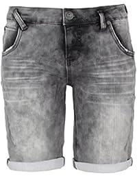 SUBLEVEL Damen Sweat Bermuda-Shorts | Kurze Hose für Frauen in Jeansoptik und Used-Look