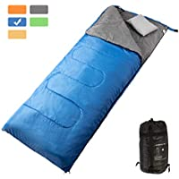 MASVIS Lightweight Sleeping Bag with Warm Cotton Wild Survival Mountaineering Climbing Compact Ultralight Mummy Envelope Sleeping Bags for Adults