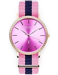 Zaragoza DS053 - Reloj de Pulsera para Mujer (Esfera Rosa con Diamantes de imitación)