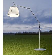 Lámpara de pie Artemide Tolomeo Mega Outdoor (blanco)–30% de motor y.