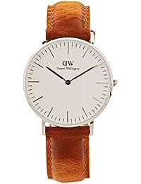 Daniel Wellington Classic Damen-Armbanduhr Analog Quarz Leder - DW00100112