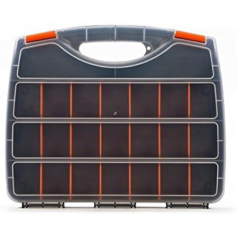 Flexifoil Premium Bitbox–Caja de almacenamiento co compartimentos, Organizador para herramientas y piezas pequeñas