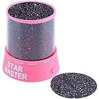 Lámpara de proyector Starry Night LED, Romantic Cosmos increíble Luna Colorida Star Star Sky Lámpara de Techo Universal Kid Night Chidren Lámpara Presente
