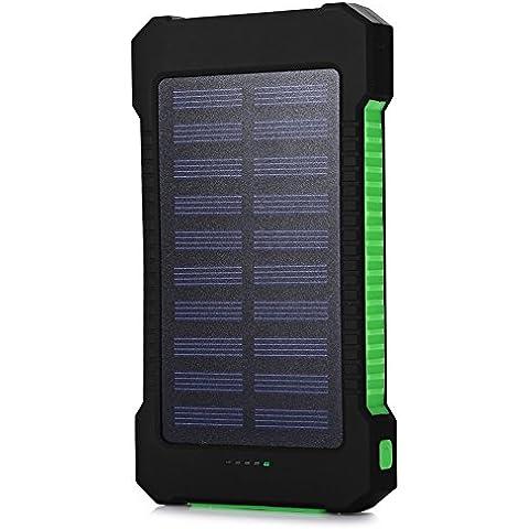 RDT 20000mAh Cargador Portátil de Panel Solar Impermeable Power Bank Batería Externa con LED lámparas para Smartphones, Tables y otros Dispositivos Digitales -