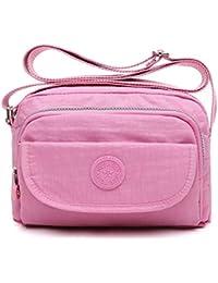 347afeb782 tuokener Cross body Bag Women Nylon Waterproof Womens Messenger Bags Travel  Bag Over Shoulder bag Handbag with Multi-Pocket…