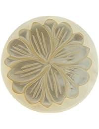 MY iMenso insignia blanca flor nácar blanco 24 mm 24-0532