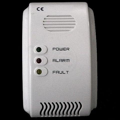 Cablematic - Detector de gas LPG butano propano con alarma acústica