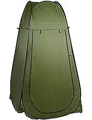 Befied Tienda de Campaña Pop Up Plegable y Portátil impermeable para Ducha Cambiador o vestidor compacta 104 x 104 x 190 cm (Verde)