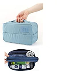 AEXiVE Multi-functional Travel Underwear Socks Divided Pouch Organizer (Colour May Vary)