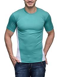 Scott Men's Jersey Round Neck Sports Dryfit T-shirt - Sky Blue