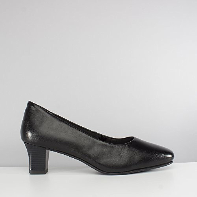 Comfort Plus Womens Black Low Block Ankle Boot-18593
