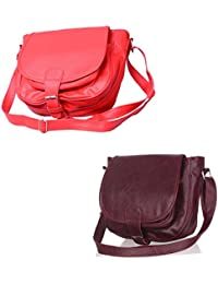Stalkers COMBO Of Slingbags(Red AND Maroon) (Combo)