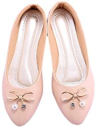 7c1b1f4c7a685 White Women's Ballet Flats: Buy White Women's Ballet Flats online at ...