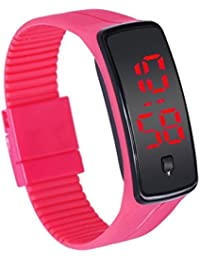 Pappi Boss Digital Pink Women's Watch with Date Display