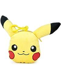 Famosa Softies - Pokèmon Monedero, peluche Pikachu, 12 cm, color amarillo (Famosa