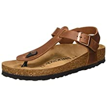 Birkenstock Tongs Kairo Cuir Gras Antique Brown, Women's Sandal, Antique Brown, 5 UK (38 EU)