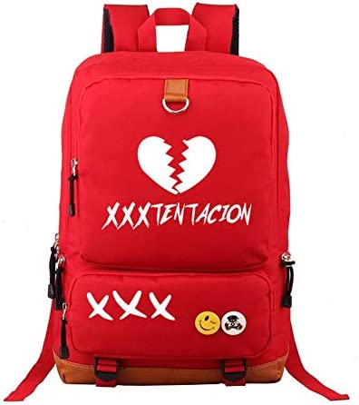 WMWZ Ragazzi Zaino Xxxtentacion Borse Ragazze Ragazze Ragazze Zaino Canvas Zaino Laptop Borsa Trekking Bag,D | di moda  | lusso  b7ecb0