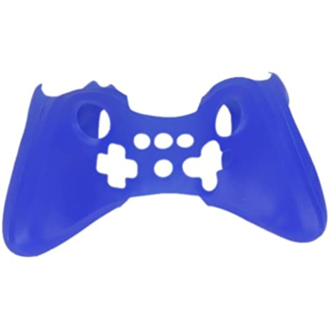 Silicone Blu Copertura Cassa Skin Protettiva Scura Per Nintendo Wii U Controller
