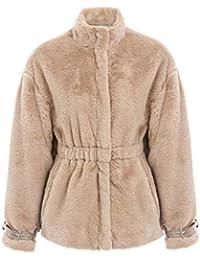 Annybar Damen Mäntel Winter Herbst Elegant Warm Jacket Mode Pelz Mantel  Casual Outerwear f2a5a43c67