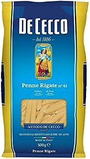 10x De Cecco Penne Rigate Italian Pasta No. 41 500g