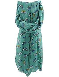 Zest Mariposa Butterfly Print Fashion Scarf Green