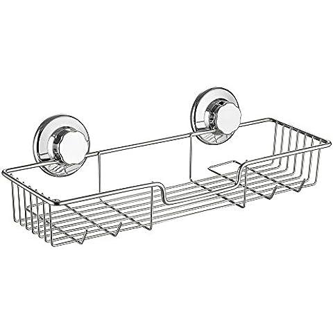 Sann Cesta con ventosa sin necesidad de taladrar sistema al vacío acero inoxidable 304 almacenamiento para cocina y baño