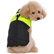 Keysui Pequeña Capa de la Chaqueta del Perro a Prueba de Agua, la Lana Forrada para el Calor, Protector de Pecho Puffer Perro de Animal Doméstico del Perrito del Chaleco para el Otoño Invierno